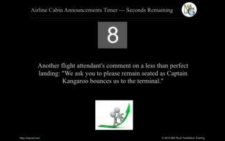 Airline Humor Ten Minute Break Timer